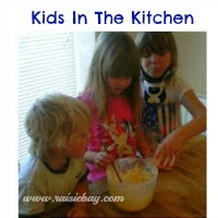 Learning to cook, kids in the kitchen badge