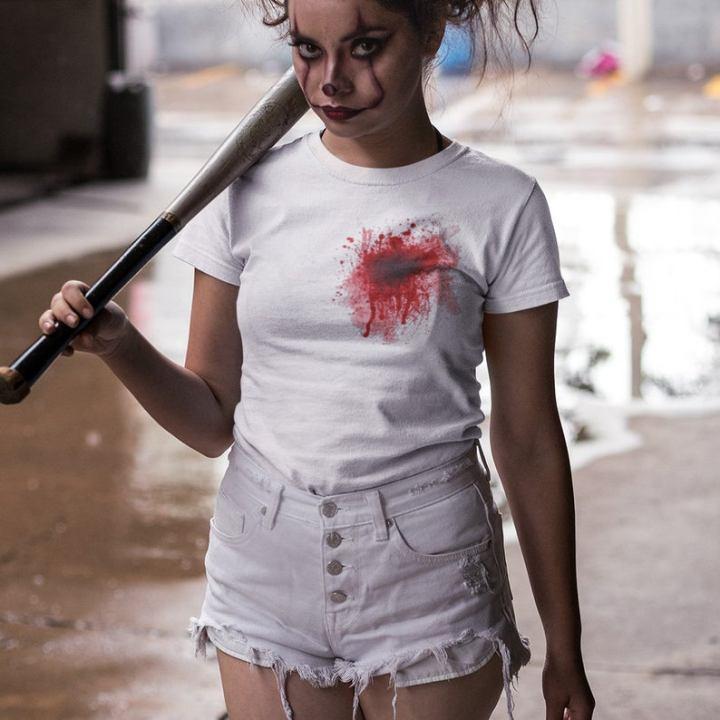 gun shot tee shirt halloween dress up from Etsy