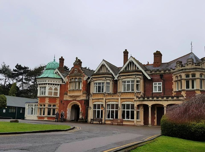 A photograph of Bletchley park in Milton Keynes. A place where they did  code breaking during WWII In memory of remembrance Sunday.