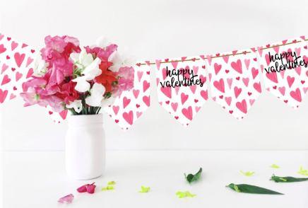Valentines bunting printable