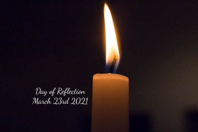 day of reflection march 23rd 2021, candle