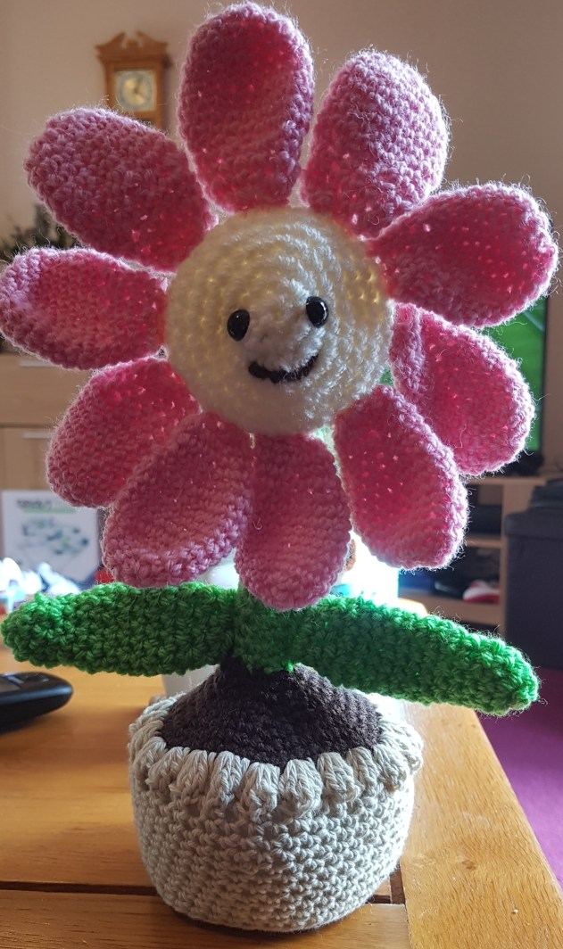 Spring has arrived crochet flower
