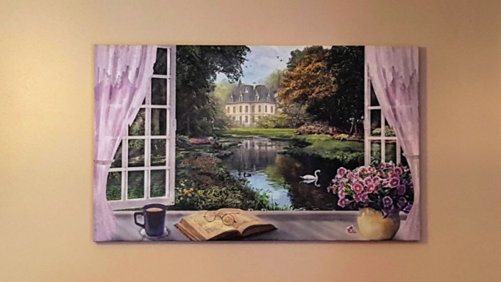 Photowall canvas, a window with a view.