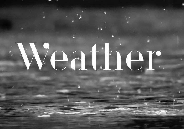 weather, rain