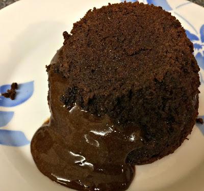 sweet chocolate molten pudding