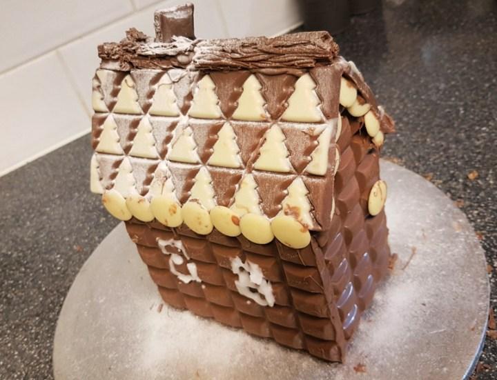 sweet chocolate gingerbread house
