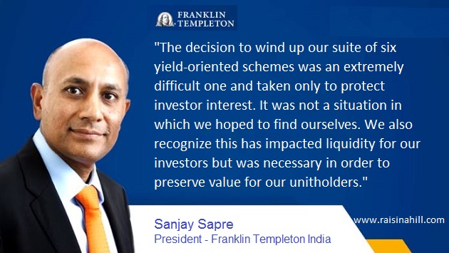 RBI has announced Rs.50,000 crore of special liquidity facility for mutual funds. The move follows Franklin Templeton's decision to wind up six of its debt funds.