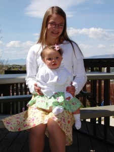 Baby Anna with Big Sister Sarah