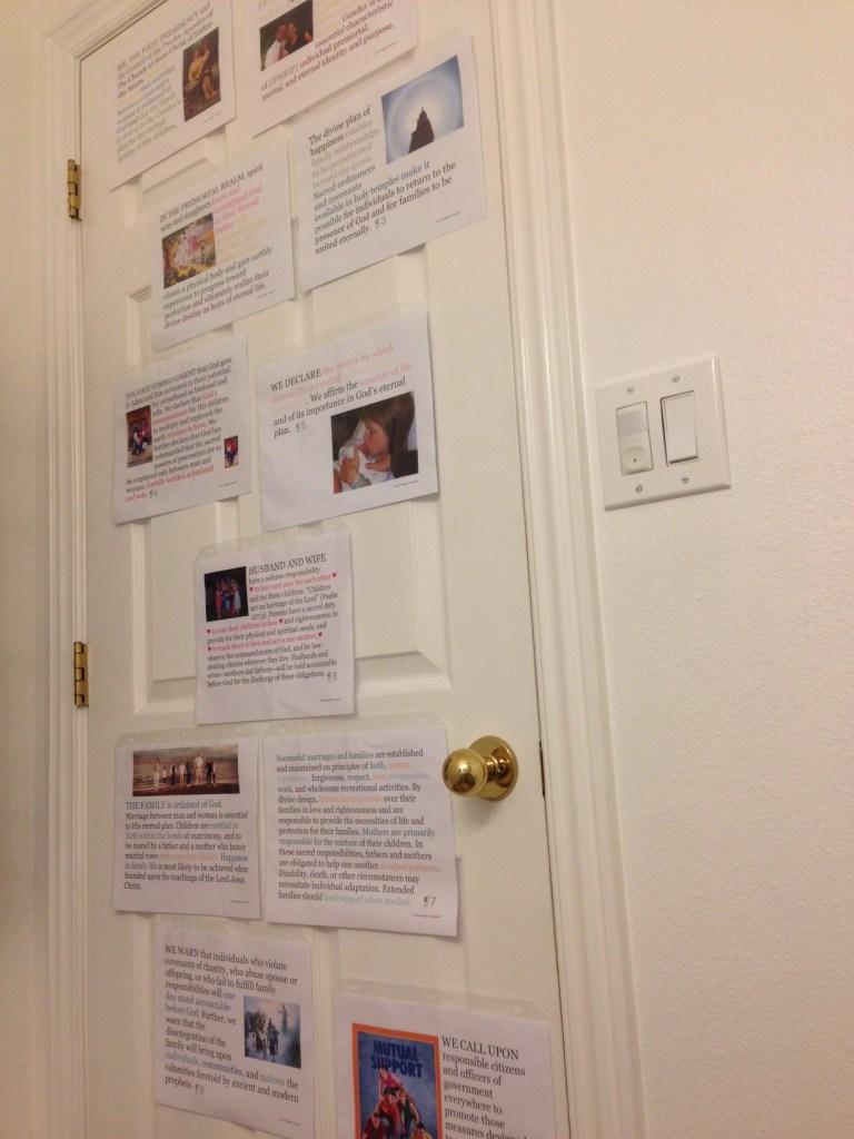 TFPTTW visuals on door
