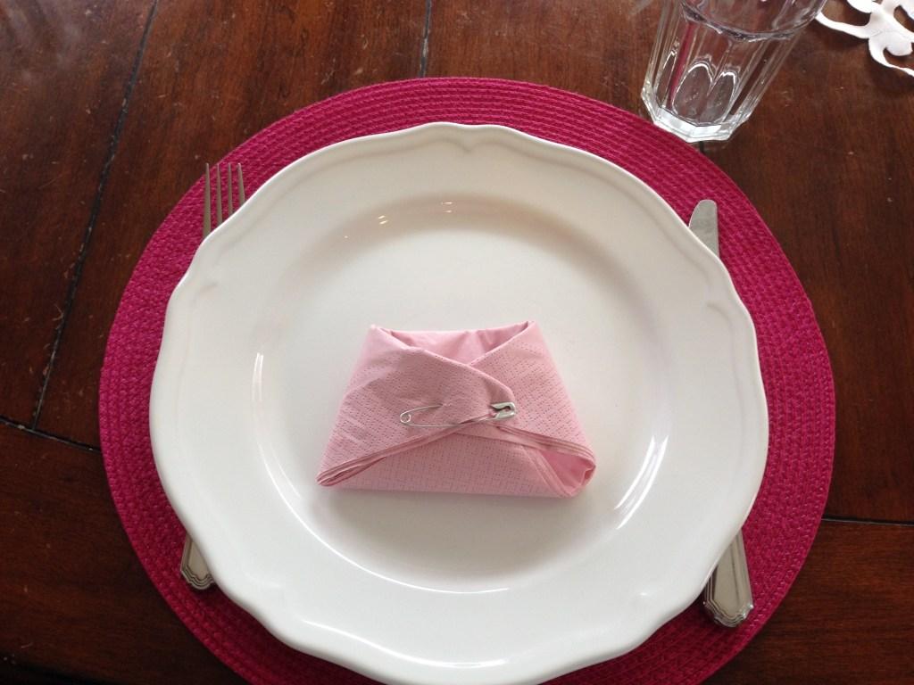 diaper napkins folded baby shower