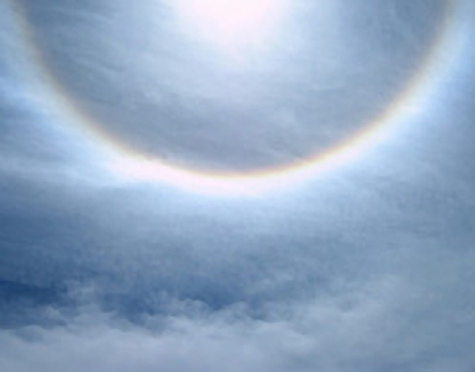 sun ring in the clouds on the Brahmaputra River in Tibet