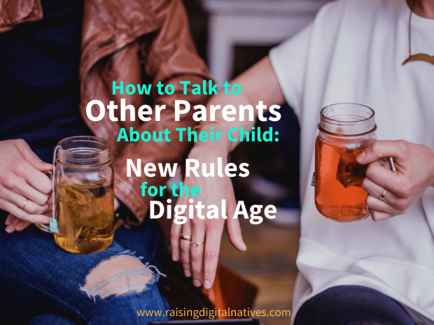 other parents, uncomfortable conversation, kids and technology