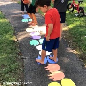 Monster Footprint Hop Gross Motor Kids Activity