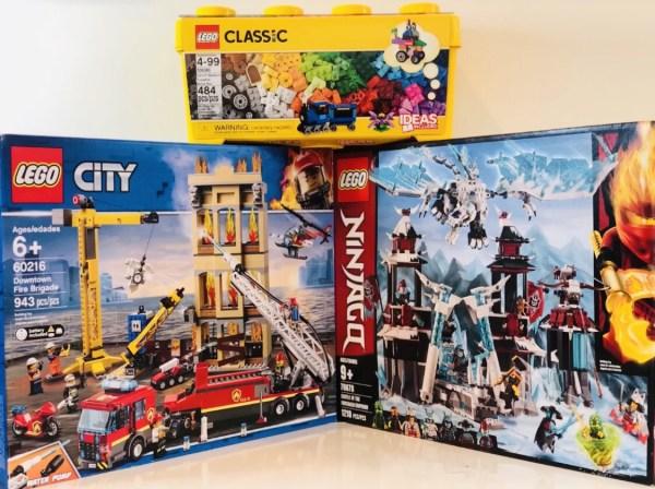 LEGO NINJAGO Castle of the Forsaken Emperor, Creative Brick Box, CITY Downtown Fire Brigade
