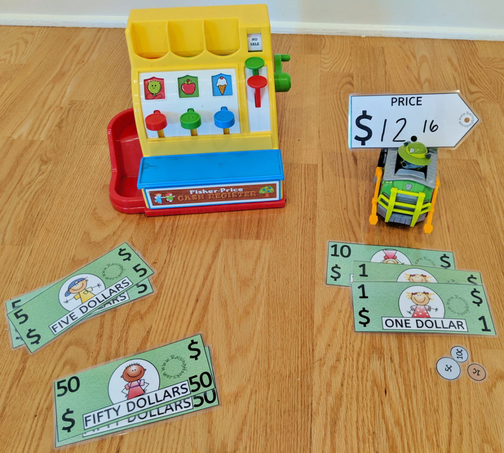 Counting Money Activity Bag
