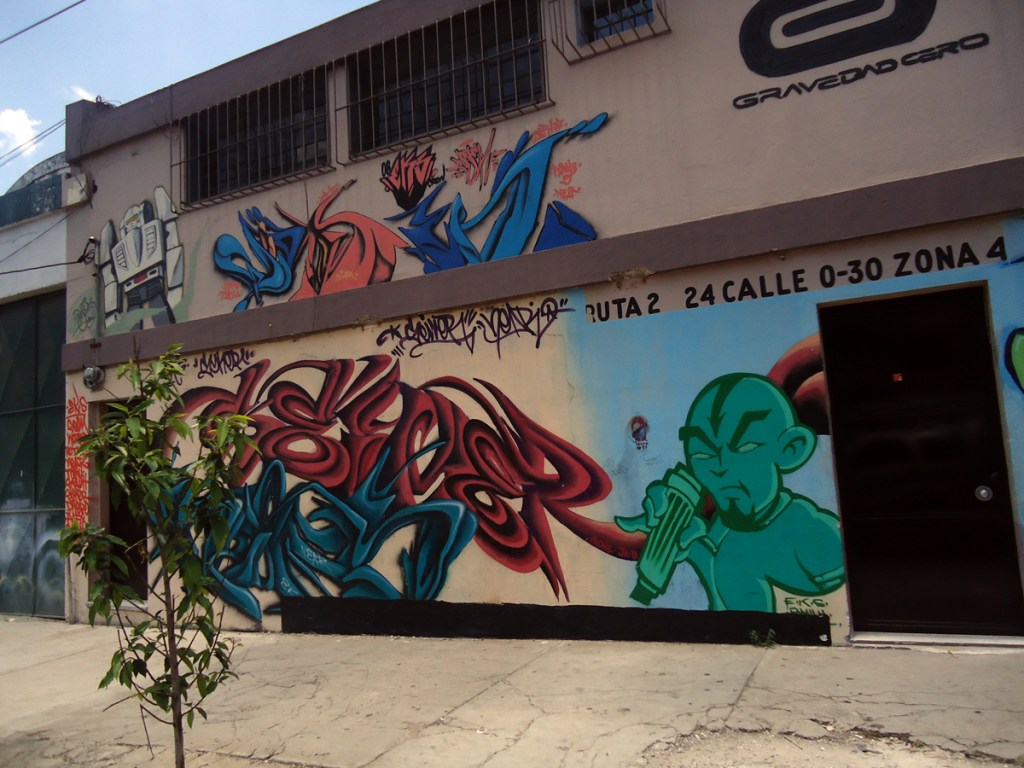 Graffiti on the streets of Guate.