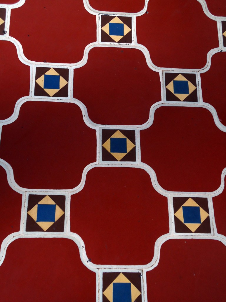 This was the beautiful tiled floor in the gallery.