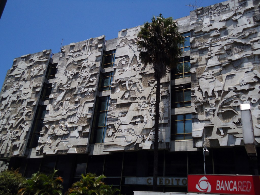 Beautiful facade, designed by a famous Guatemalan artist.