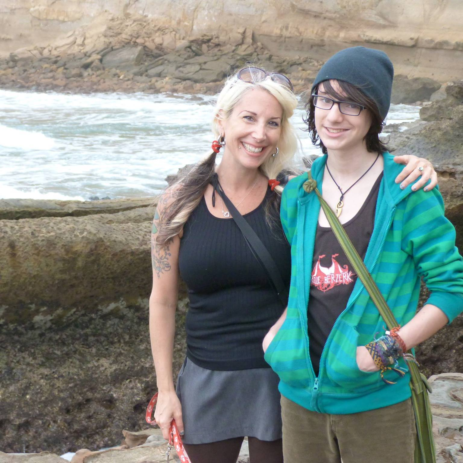 Lainie & Miro on Ecuador's coast