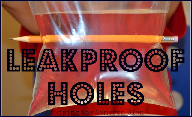 Leakproof Holes