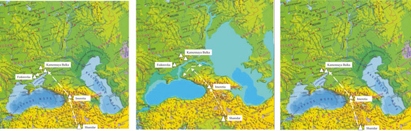 3 stages of Caspian Flooding