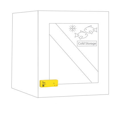 RajaBarcode.com - BeeBeacon ColdChain Placement