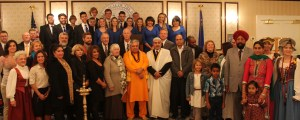 Various religious leaders and others after multi-faith prayer service for Ebola at Nevada Governor's Mansion.