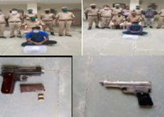 These historyheaters were caught with illegal weapons in Jalore