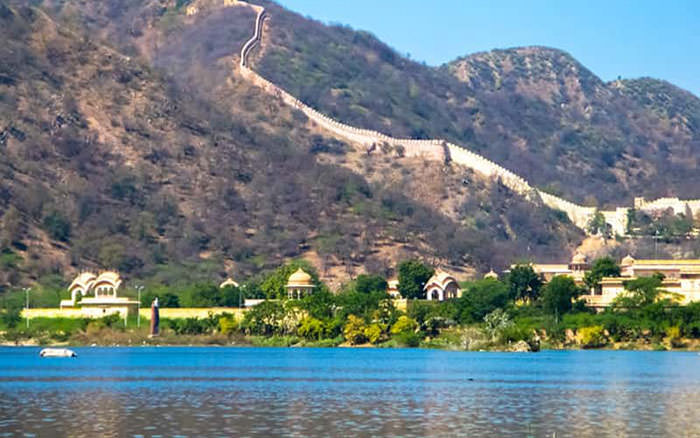 Ramgarh Lake in Jaipur