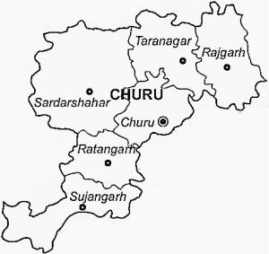 Churu District Map