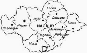 Nagaur District Map