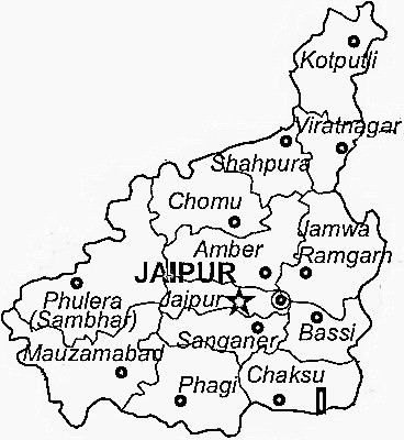 Map Of Jaipur District Jaipur District Map   View Jaipur District Road Map of Jaipur District