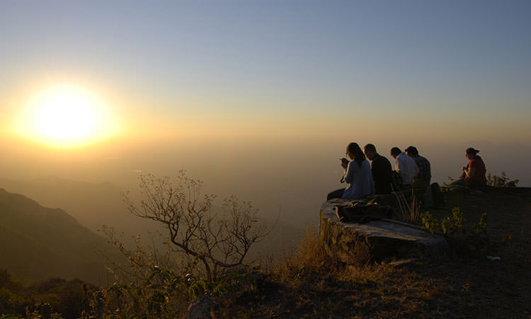 Sunset at Mount Abu in Rajasthan