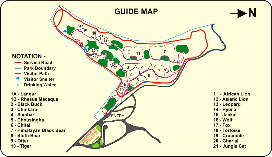 Sajjangarh Biological Park Guide Map