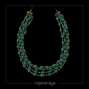 Green Jade 4 layered Necklace
