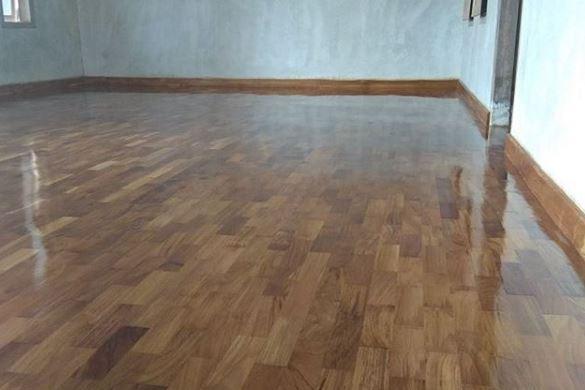 yogyakarta pemasangan lantai kayu Jati