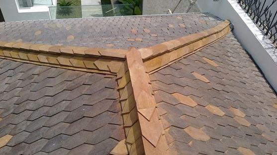 atap sirap kayu Ulin kalimantan