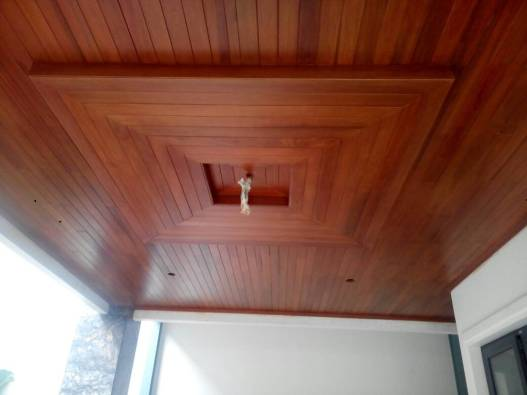 plafon kayu keruing lambersering