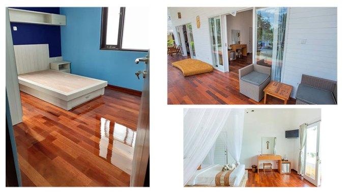 contoh pemasangan flooring merbau