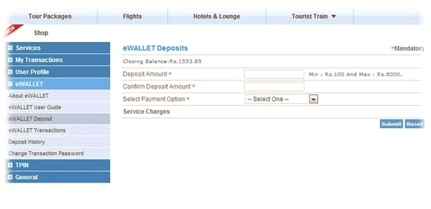 IRCTC eWallet – How To Book Tatkal Rail Ticket Quickly ?