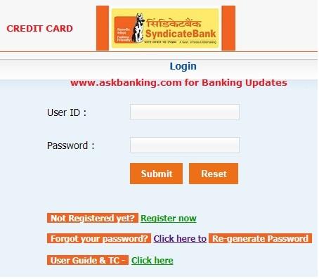 how to login syndicate bank credit card internet banking rh rajmanglam com mcb internet banking user guide uob internet banking user guide