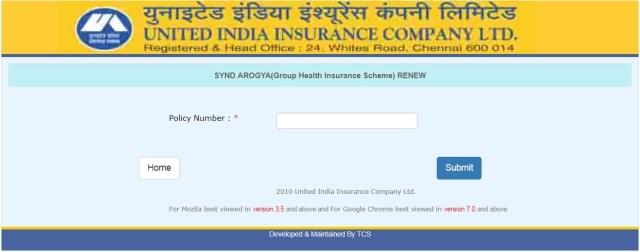 synd-arogya-health-policy-renew-online-UIICO