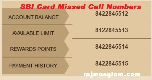 Sbi Card Missed Call Service For Instant Credit Card Account Information