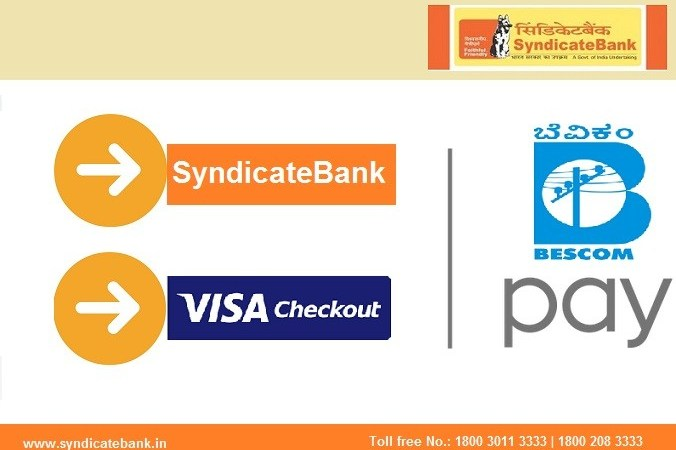 Syndicate Bank BESCOM Pay Online Using VISA Checkout