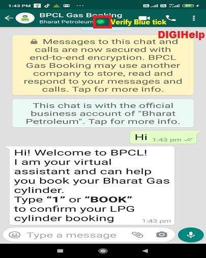 Book BPCL Cooking Gas via Whatsapp-home