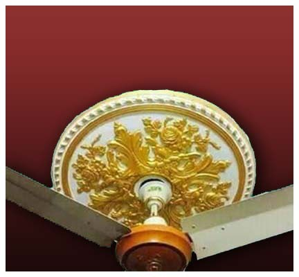 gypsum ceiling rose