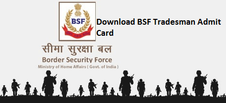 BSF Tradesman Admit Card