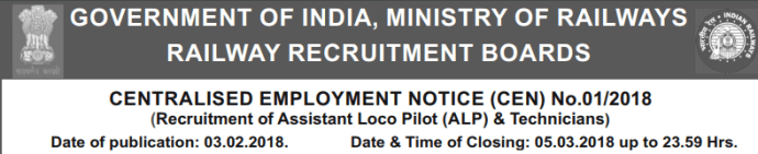 RRB ALP Vacancy 2018