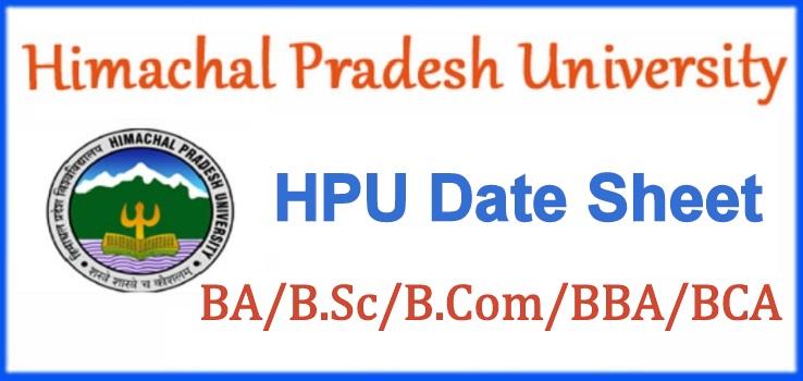 HPU Date Sheet