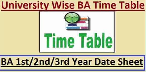 BA Time Table